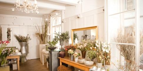Blumen und Stil Geschäft innen